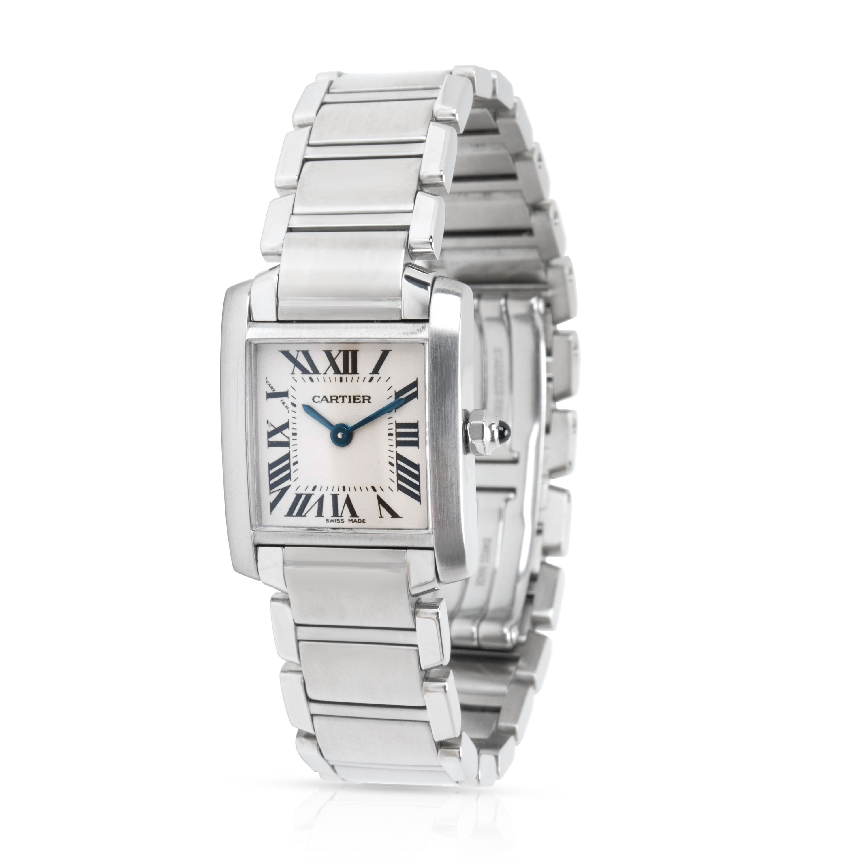 Cartier Tank Française W51008Q3 Women's Watch in Stainless Steel