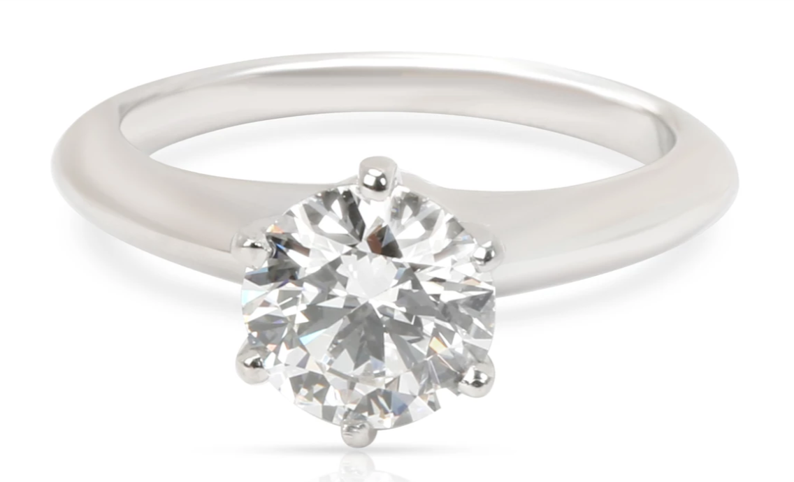 Tiffany & Co. Diamond Engagement Ring in Platinum 1.06 CTW