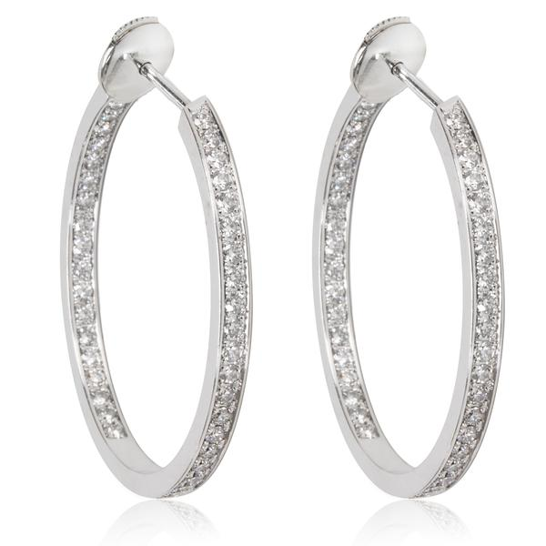 Cartier Diamond Hoop Earring in 18KT 1.80 CTW