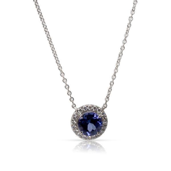 Tiffany & Co. Soleste Tanzanite & Diamond Necklace in Platinum