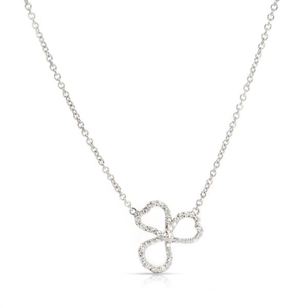 Tiffany & Co. Paper Flowers Diamond Necklace in Platinum (0.06 CTW)