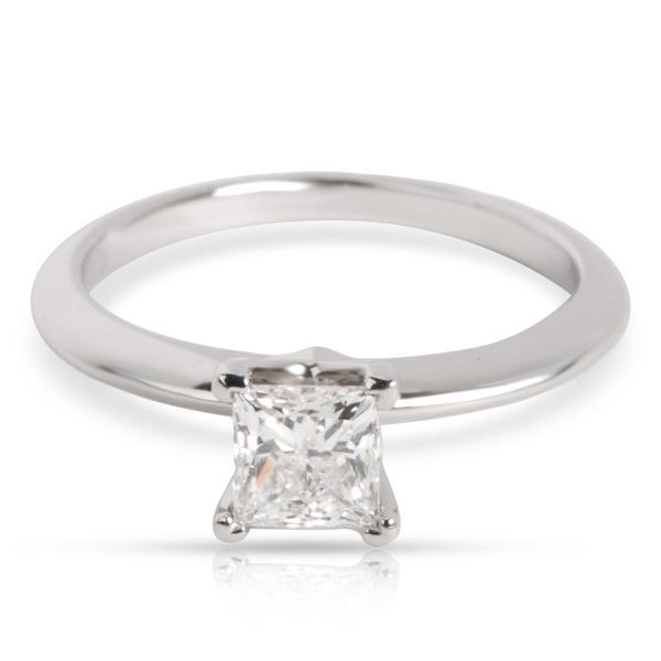 Tiffany & Co. Princess Cut Diamond Engagement Ring in Platinum (0.53 ct H VVS1)