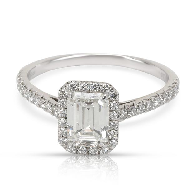 Tiffany & Co. Soleste Emerald Diamond Engagement Ring in Platinum G VS1 1.29 CT