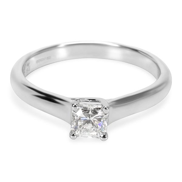 Tiffany & Co. Lucida Platinum Diamond Engagement Ring H VS1 0.39 CT