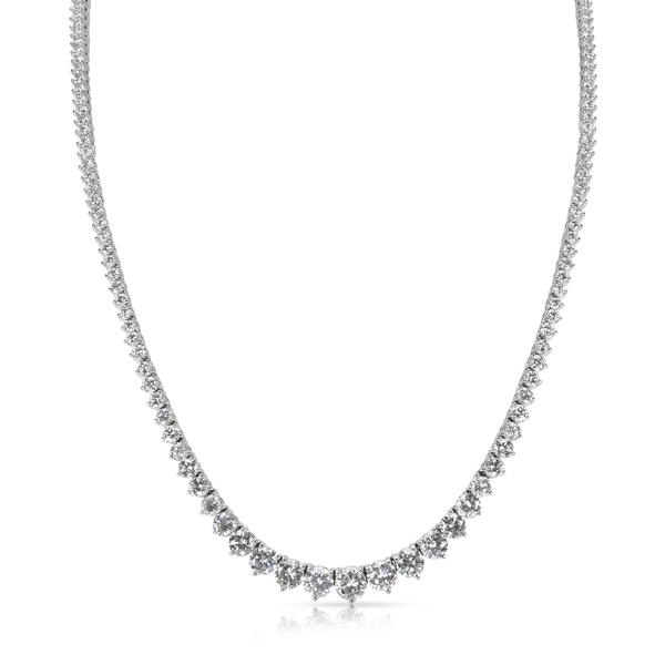Cubic Zirconia Riviera Necklace in Sterling Silver (8 CTW)
