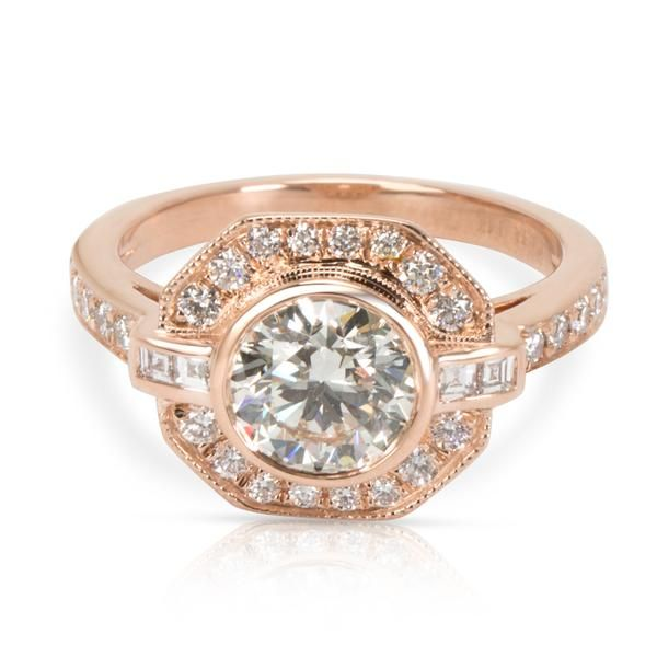James Allen Diamond Engagement Ring in 14K Rose Gold