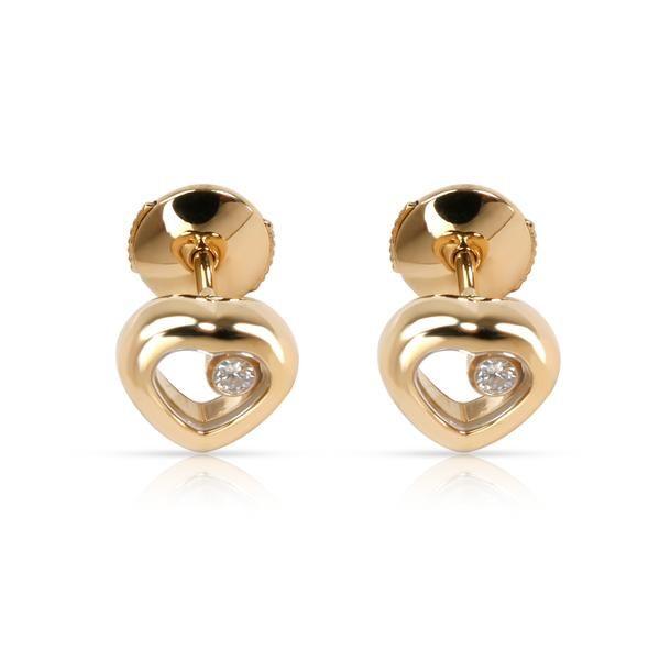 Chopard Happy Diamond Stud Earring in 18K Yellow Gold 0.06 CTW