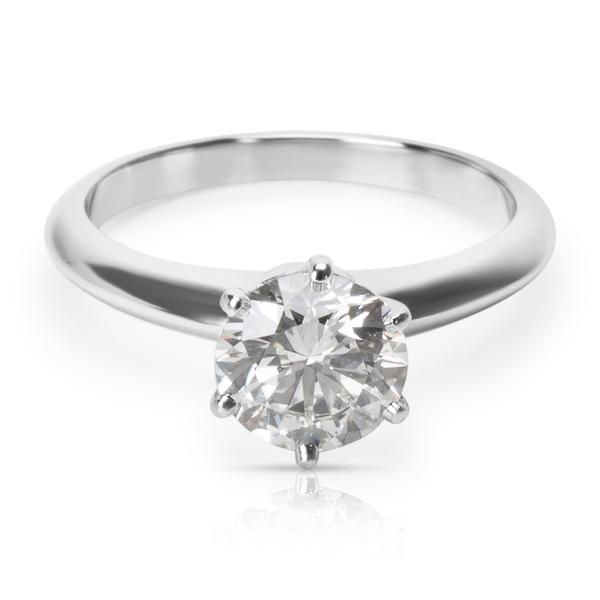 Tiffany & Co. Diamond Engagement Ring in Platinum 1.25ct G VVS2