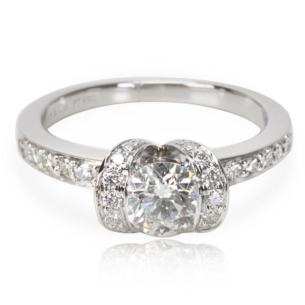 James Allen Halo Pear Diamond Engagement Ring in Platinum GIA E VVS2 0.92 CTW