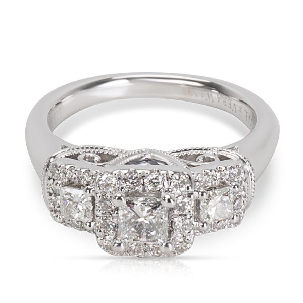 Vera Wang Love Collection Diamond Engagement Ring in 14K White Gold (0.69 CTW)