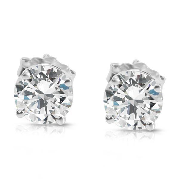 Diamond Studs in 14K White Gold (1.00 CTW)