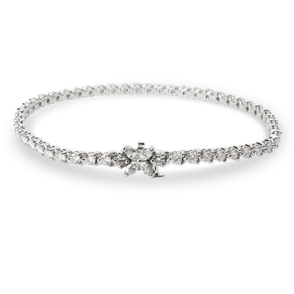 Tiffany & Co. Victoria Diamond Line Bracelet in Platinum (3.36 CTW)