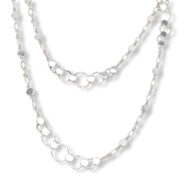 John Hardy Dot & Circle Necklace in Sterling Silver 36