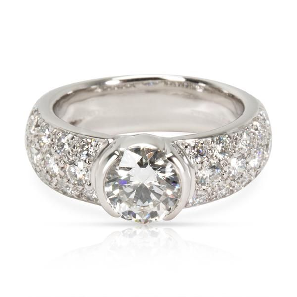 Tiffany & Co. Etoile Diamond Engagement Ring in Platinum G VVS2 2.07 CT