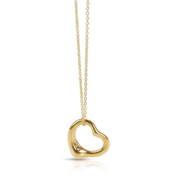 Tiffany & Co. Elsa Peretti Open Heart Necklace 11mm