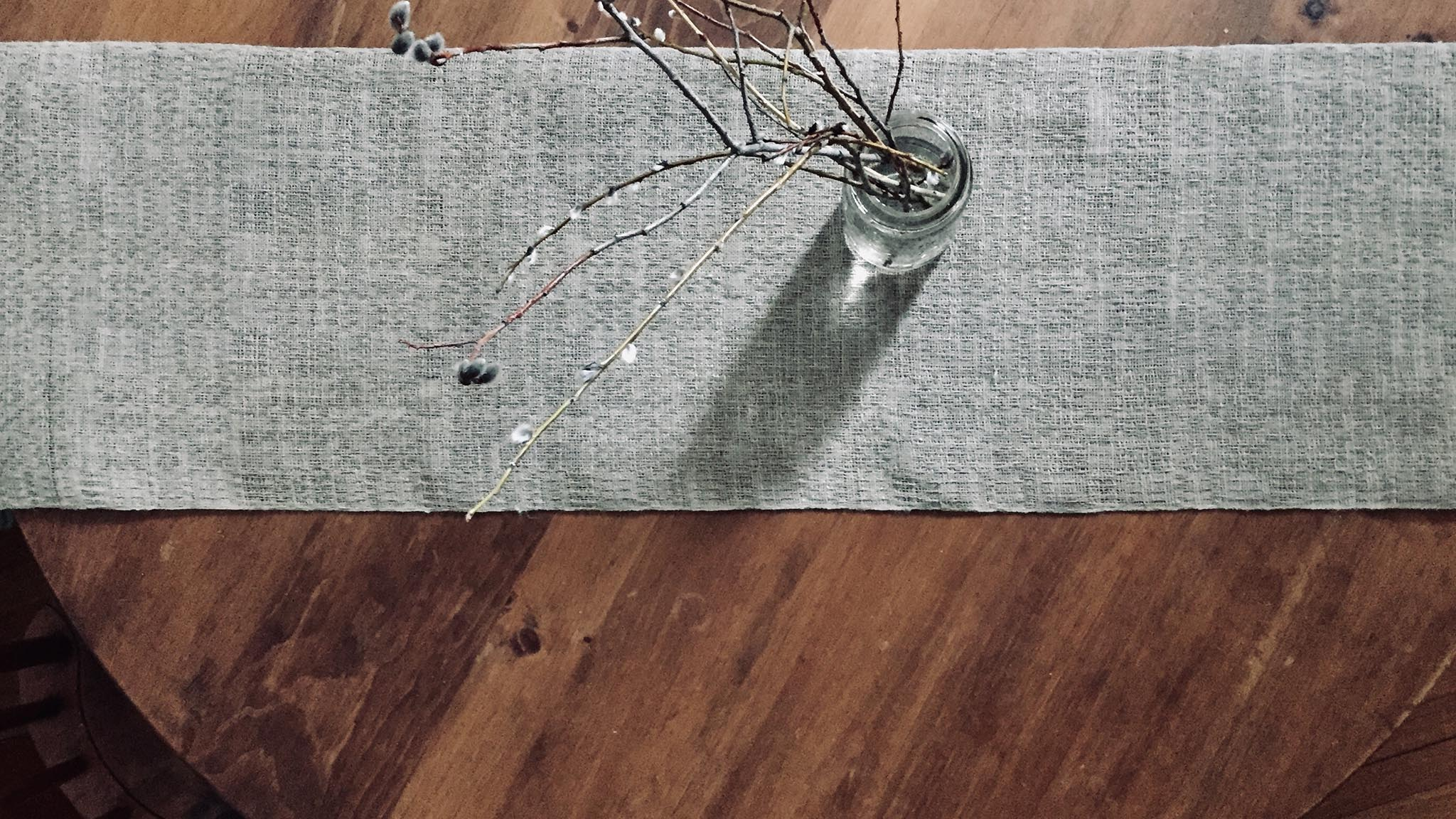 Free Weaving Pattern Handwoven Linen Lace Table Runner