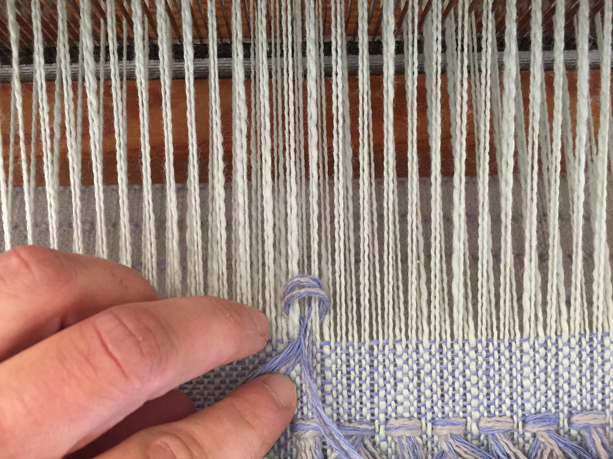 Weaving the Handwoven Gosling Pillows