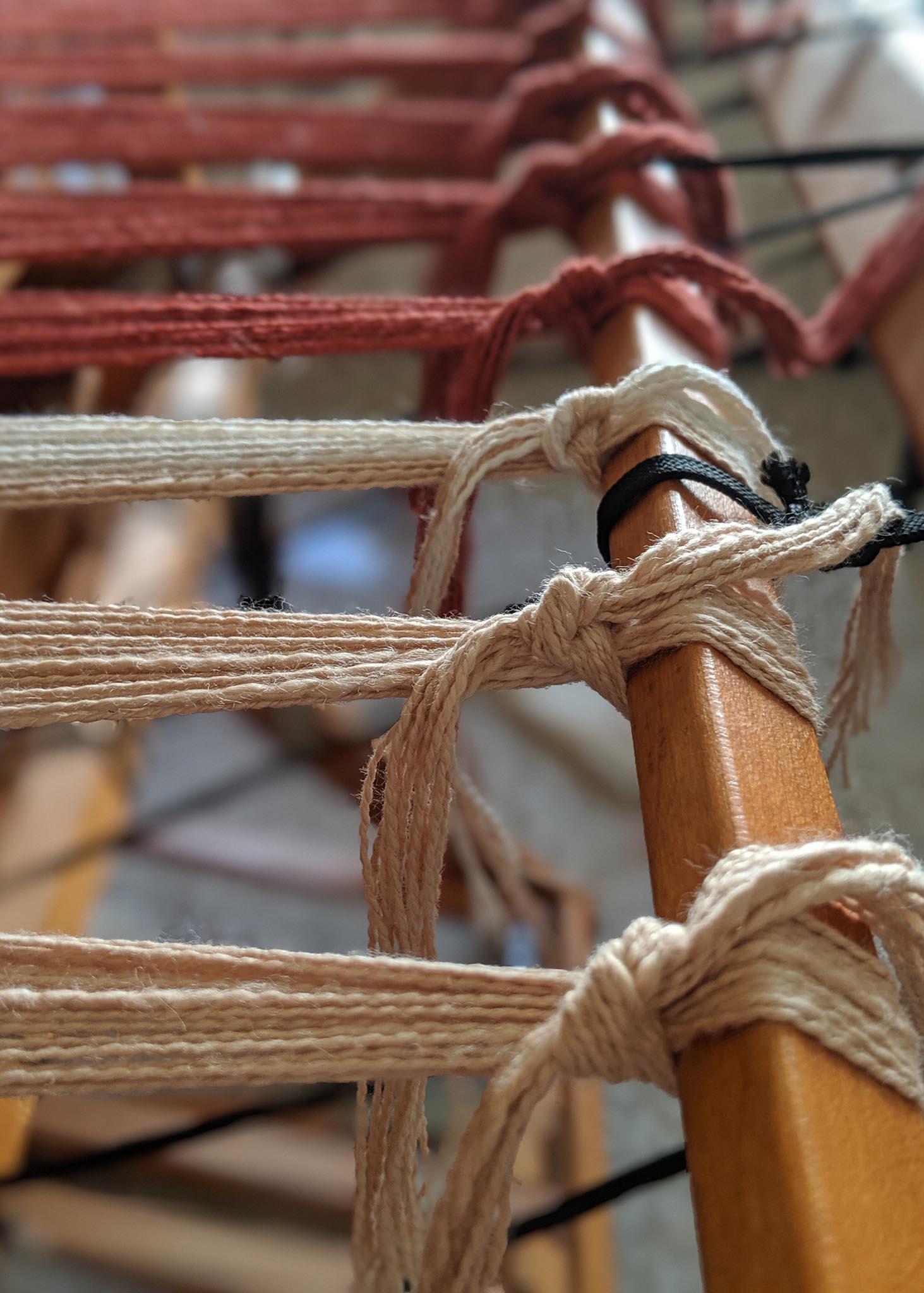 loom being dressed