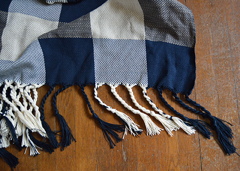 Free Pattern to Weave a Classic Buffalo Check Blanket