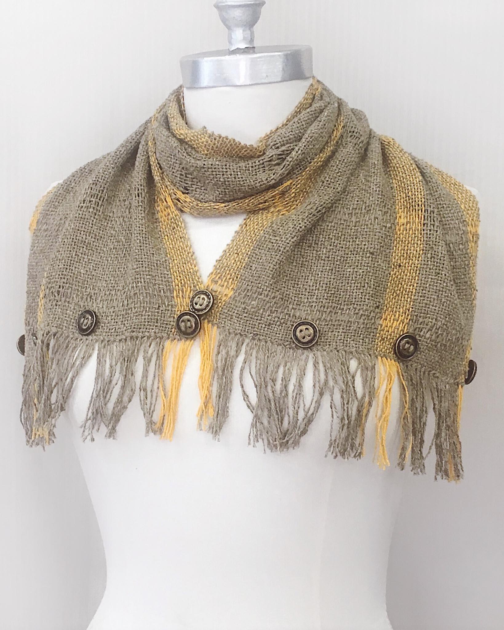 Handwoven Silk Noil Infinity Cowl Free Weaving Pattern