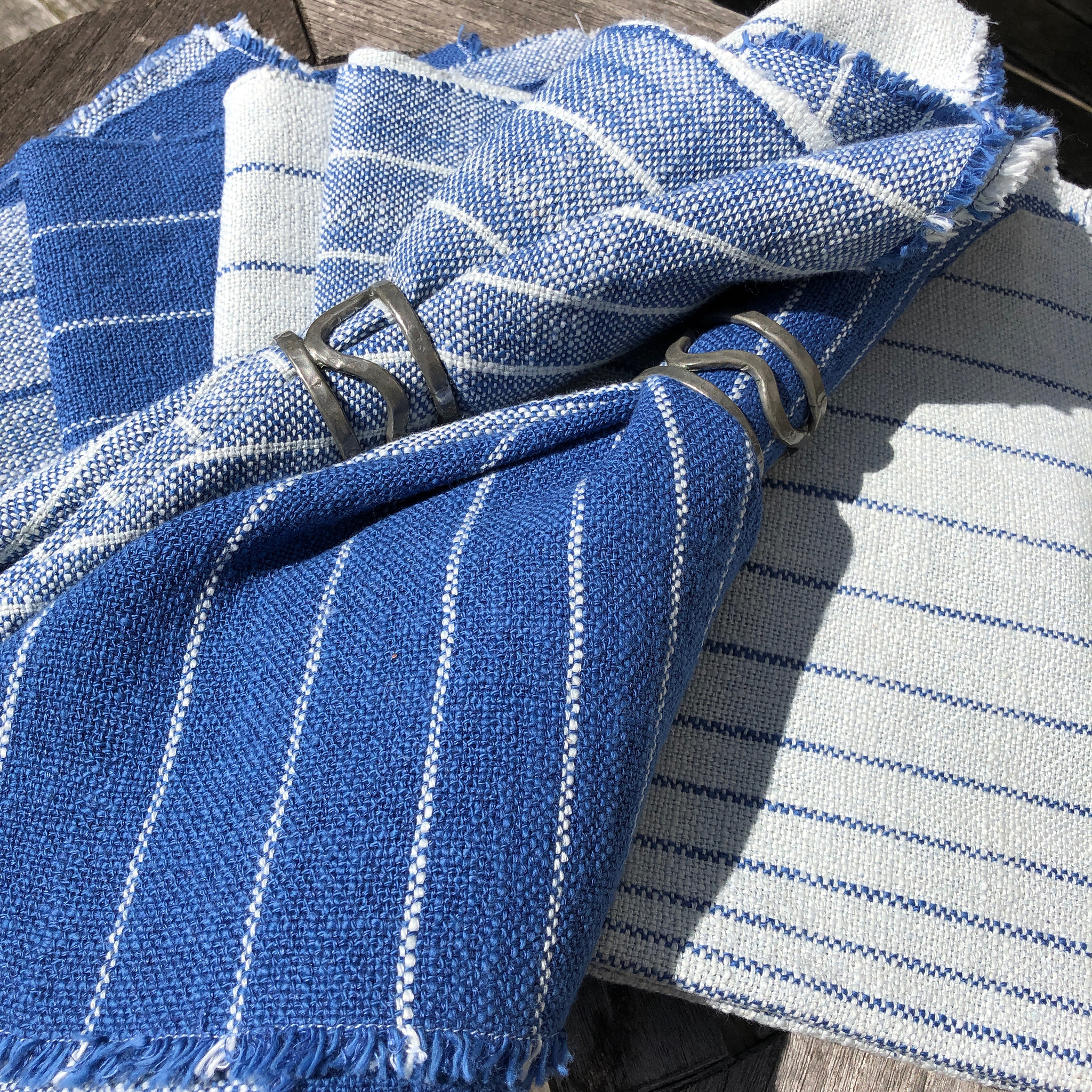 Free Weaving Pattern Cotton and Linen Farmhouse Napkins
