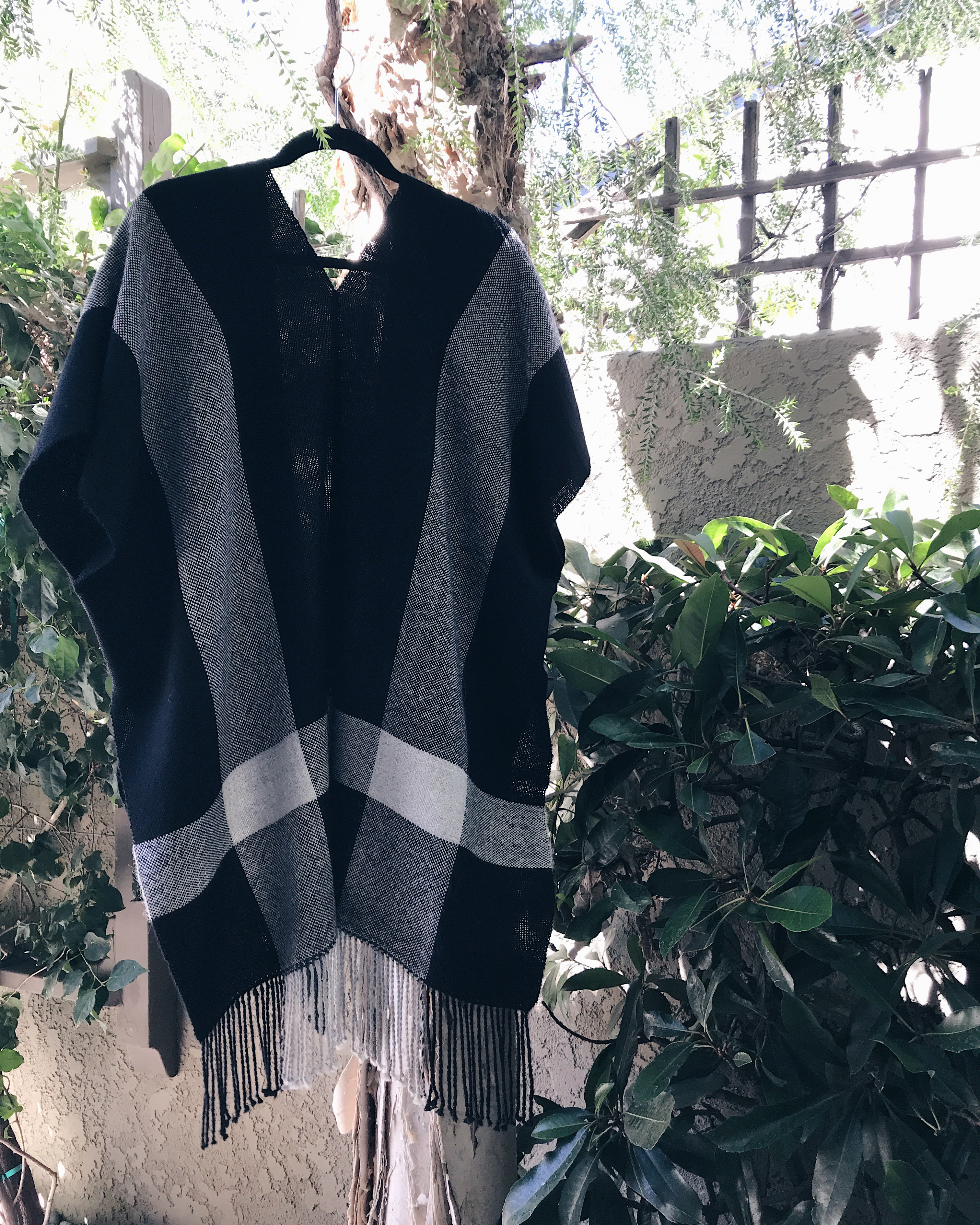 Free Pattern to Weave and Sew a Simple Alpaca Poncho or