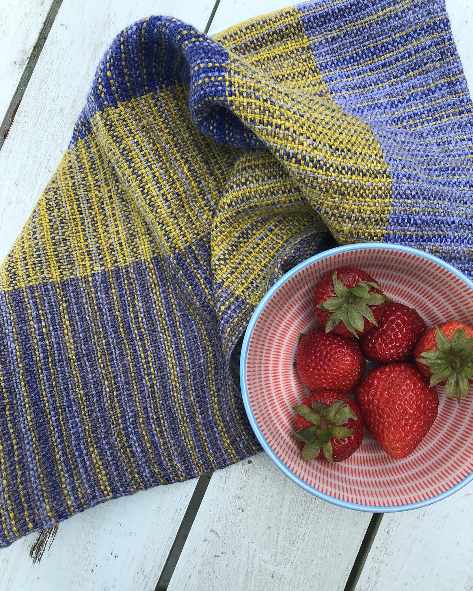 Free Weaving Pattern Pinstripe Napkins or Tea Towels