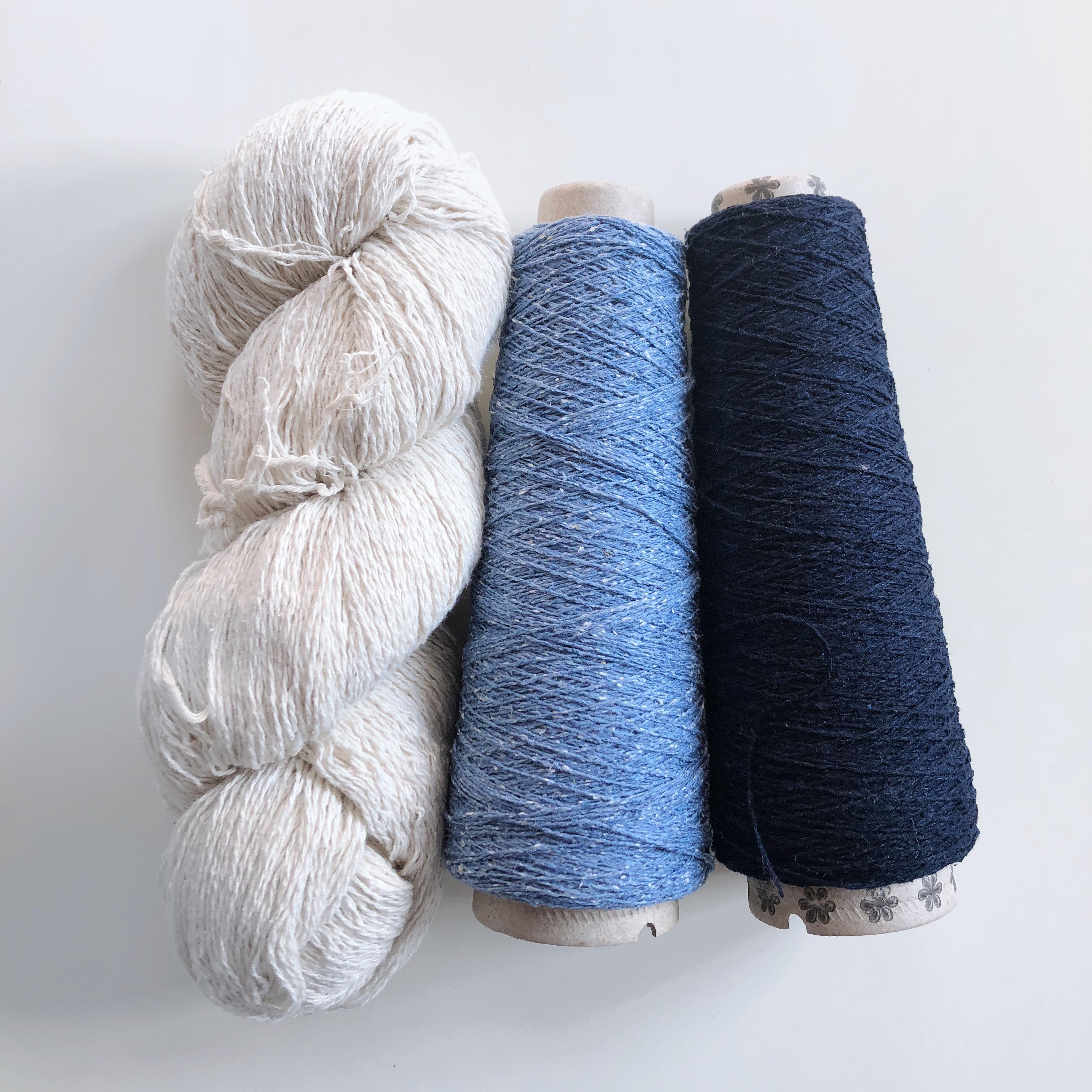 Silk Noil Neck Scarves Free Weaving Pattern