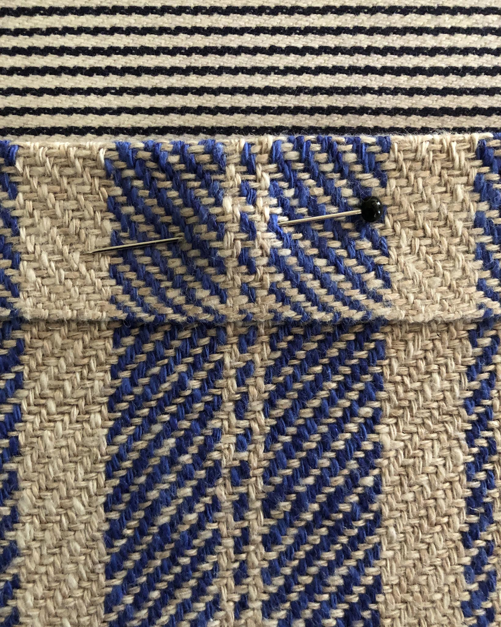 Free Weaving Pattern Handwoven Apron and Towel