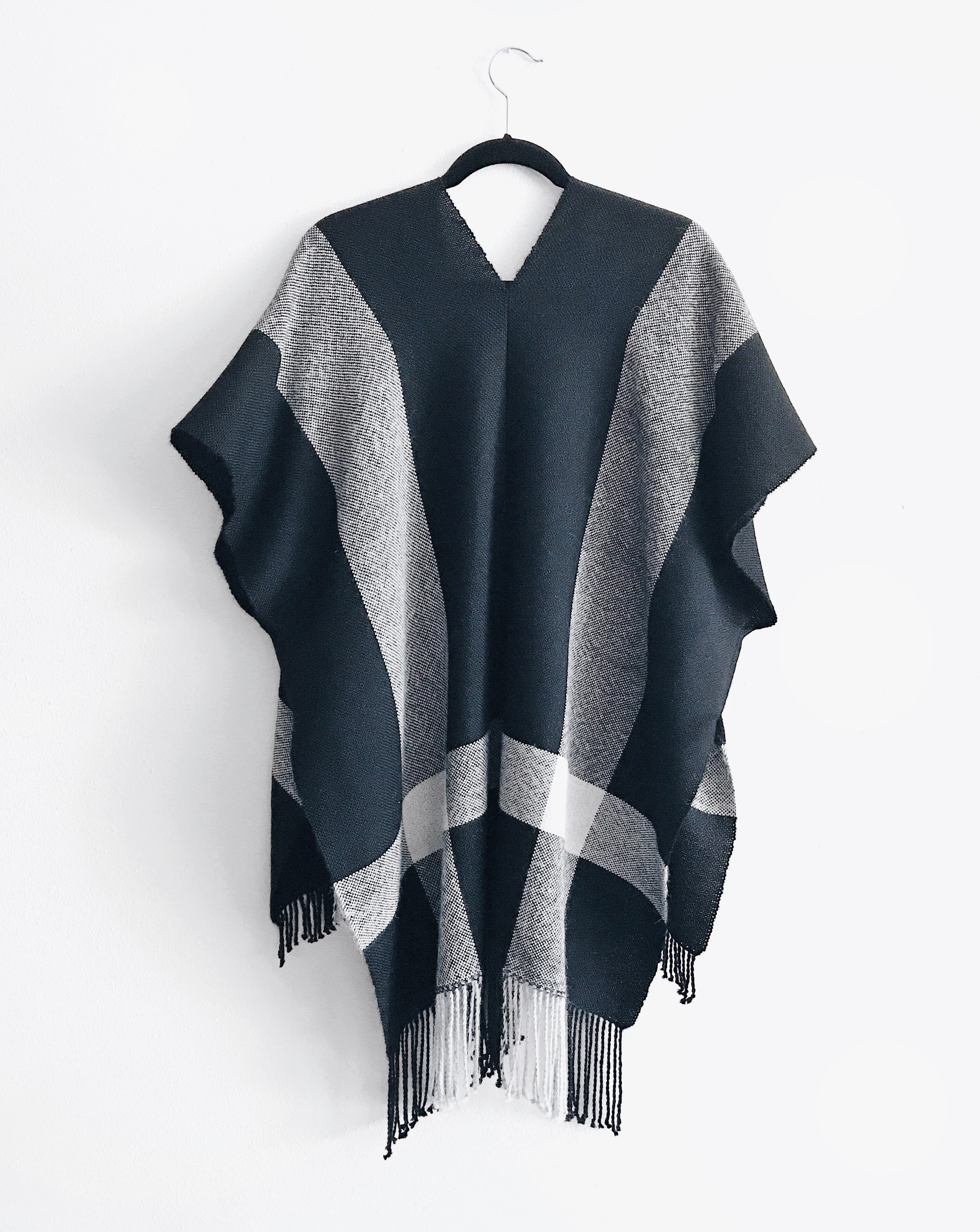 Free Pattern to Weave and Sew a Simple Alpaca Poncho or Scarf