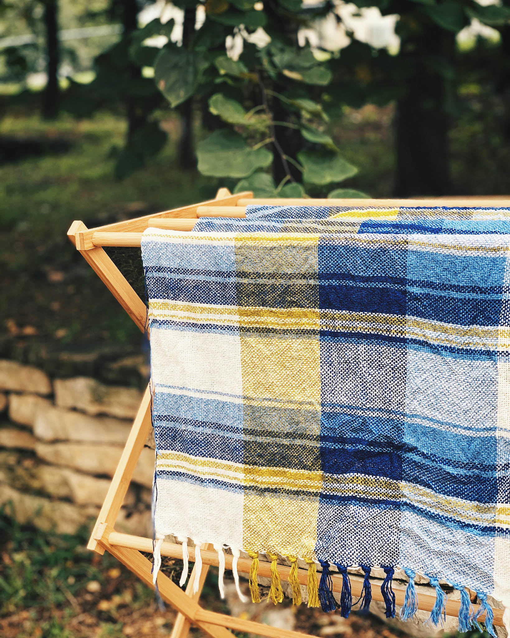 Free Weaving Pattern Checks and Stripes Handwoven Cotton Linen Tea Towels