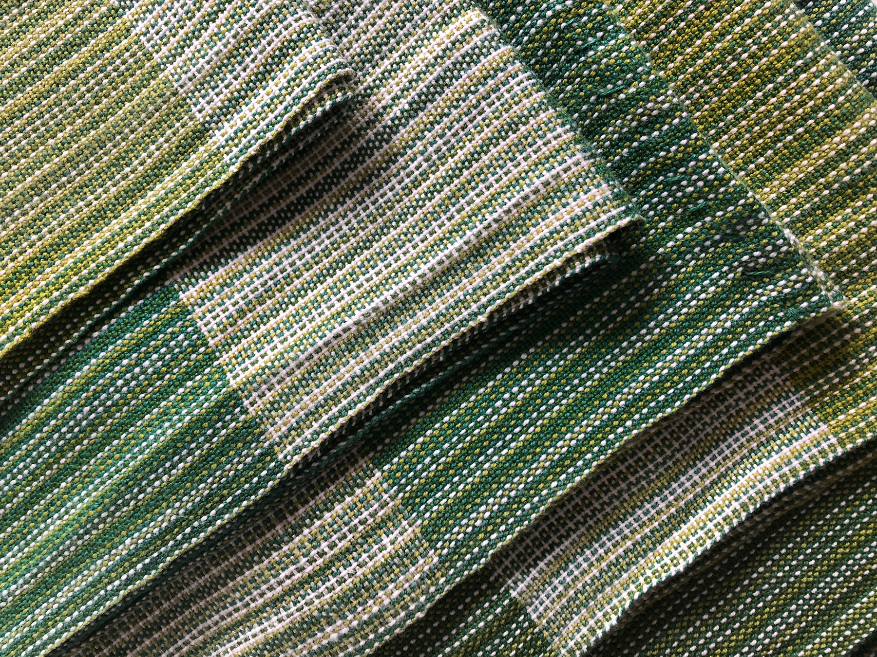 Free Weaving Pattern Handwoven Cotton Pinstripe Tea Towels