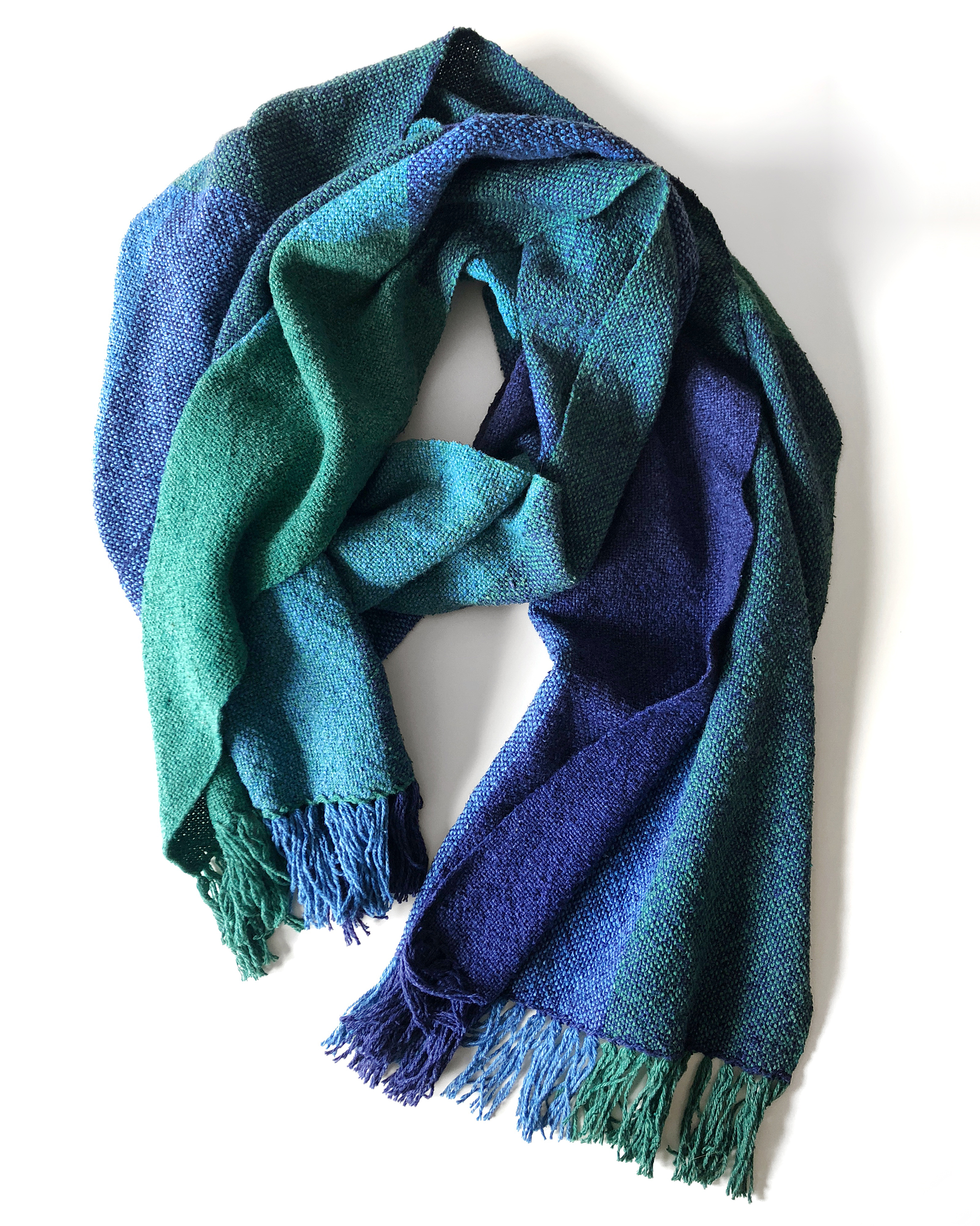 Free Pattern to Weave a Silk Noil Color Field Scarf