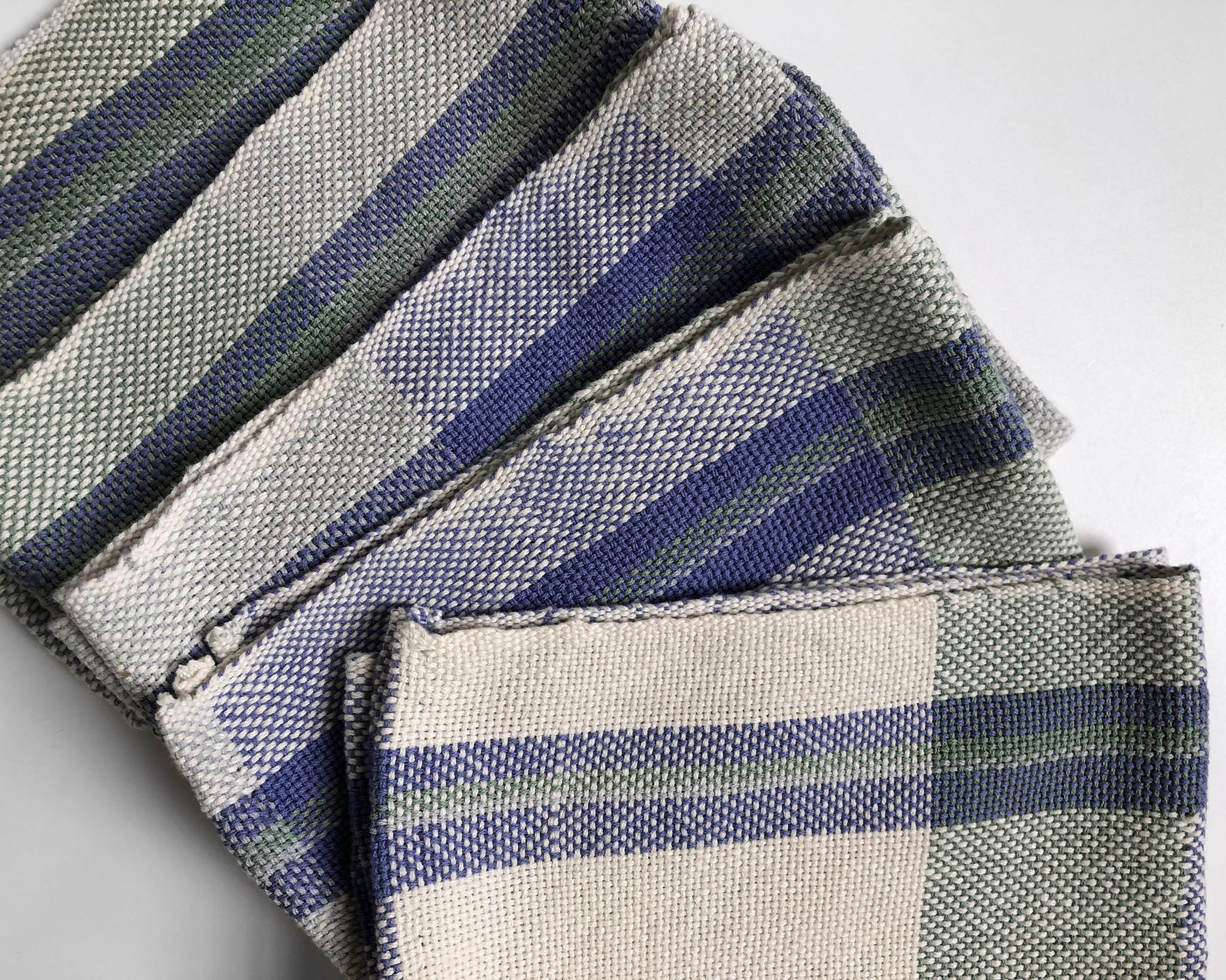Beginner Rigid Heddle Cotton Tea Towels Free Weaving Pattern