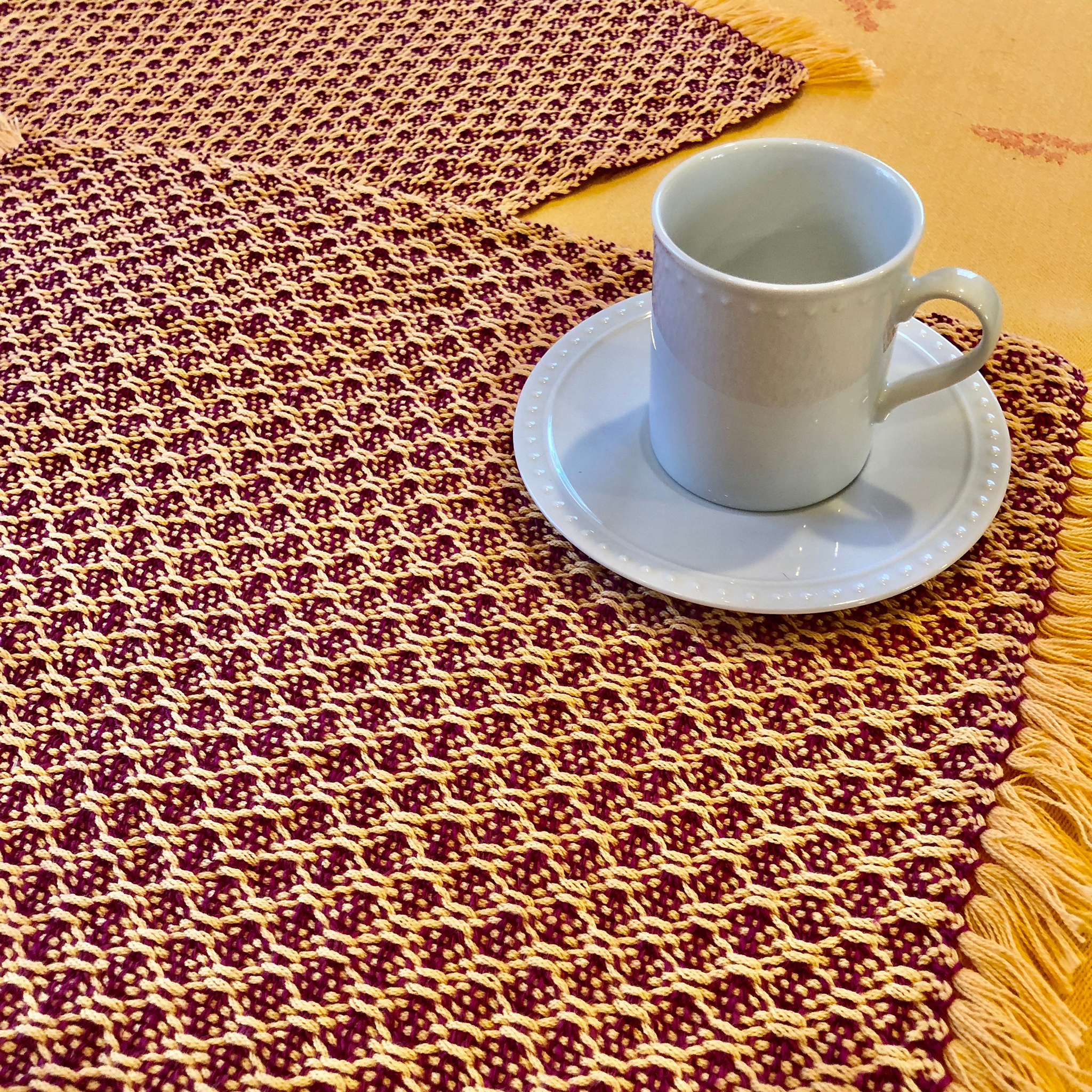 Free Weaving Pattern Huck Lace Rigid Heddle Placemats