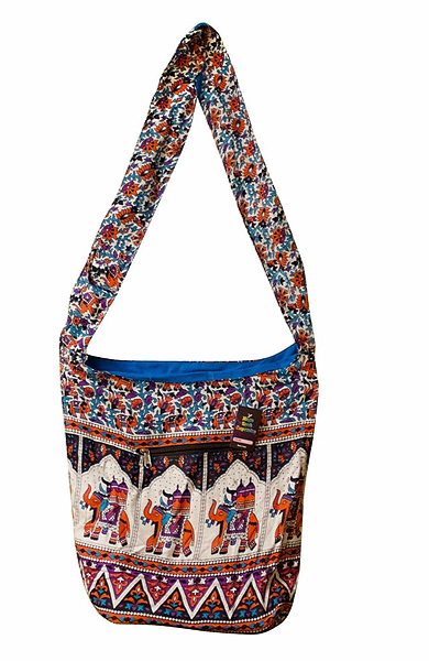 Hippie Elephant Hobo Bag