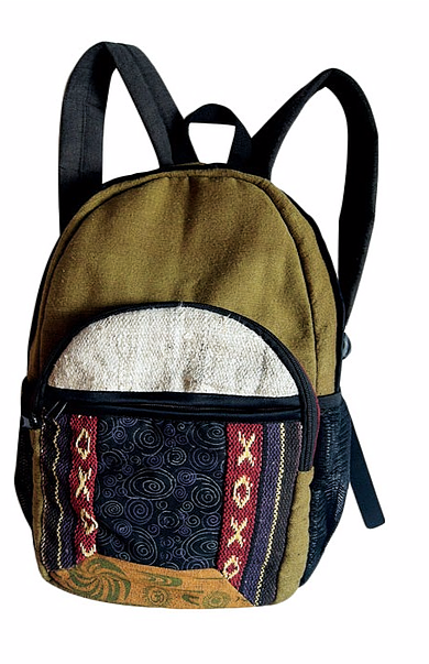 COOL HIPPIE STYLED 100% COTTON BACKPACK