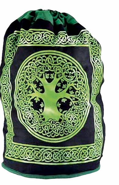 COTTON TREE OF LIFE DRAWSTRING BACKPACK