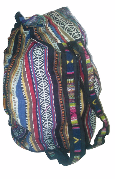 HIPPIE BOHO  ZIP-UP COMPACT BACKPACK