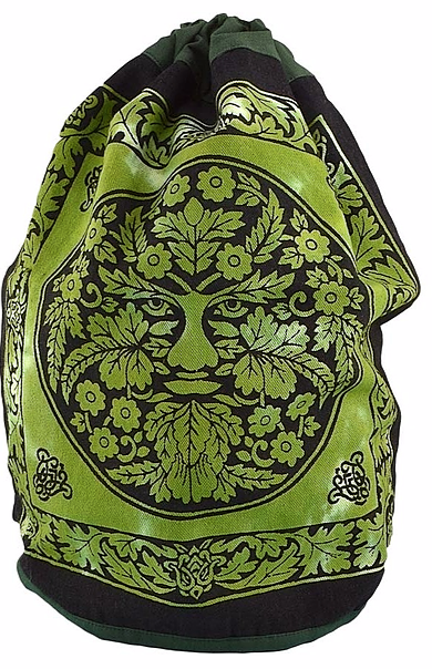 GREEN MAN COTTON DRAWSTRING BACKPACK