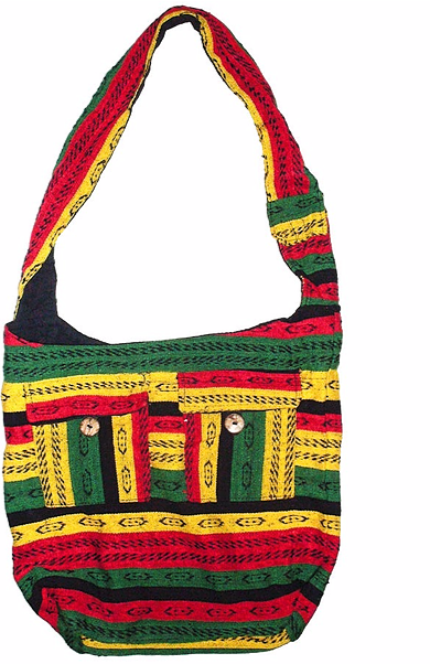 BOHO HOBO RASTA COLOURED SHOULDER BAG