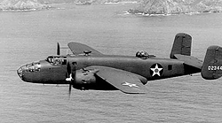 B-25 Mitchell Bomber in action