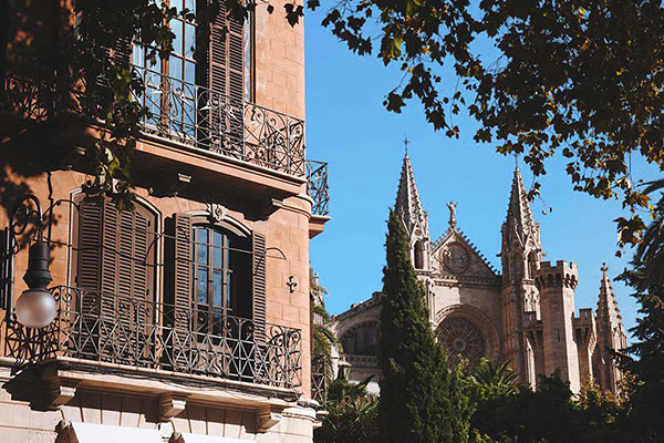 Ausblick Kathedrale Palma de Mallorca