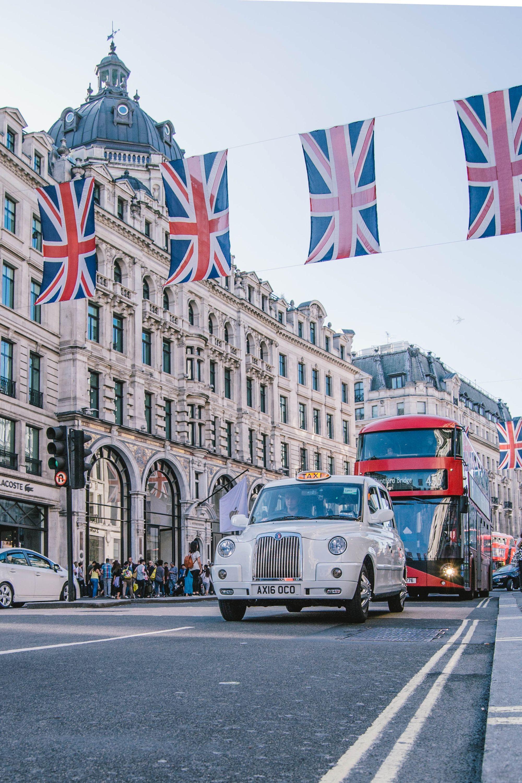 Festlich geschmücktes London