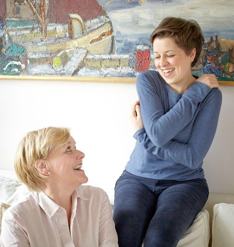 Valerie Siegle mit ihrer Mutter Karin Siegle-Kvarnström