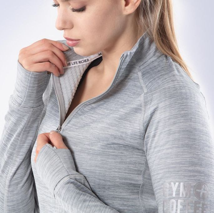 Grey Women's Parker Half Zip Running Top