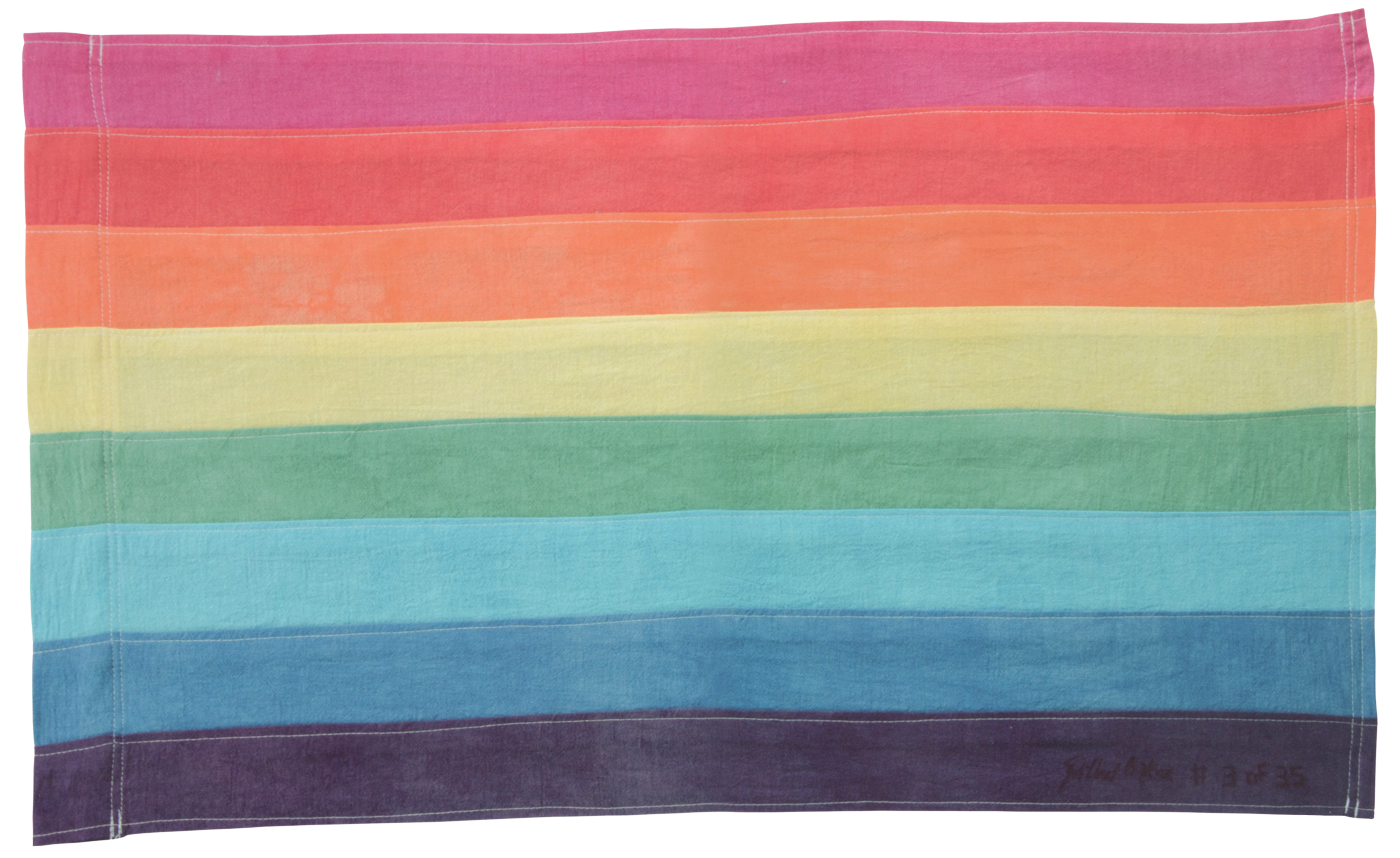 Rainbow Flag / Hand dyed and sewn by Gilbert Baker
