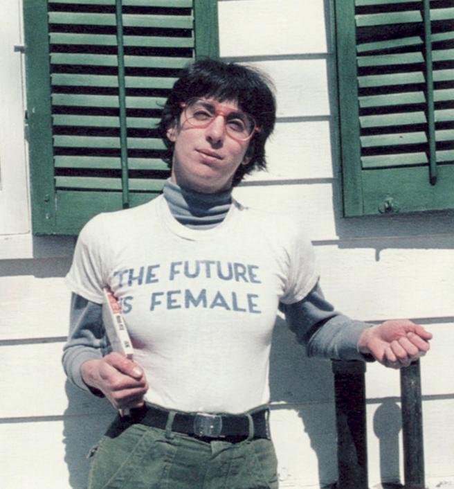 Labry's bookshop iconic Future is Female t-shirt 1970's