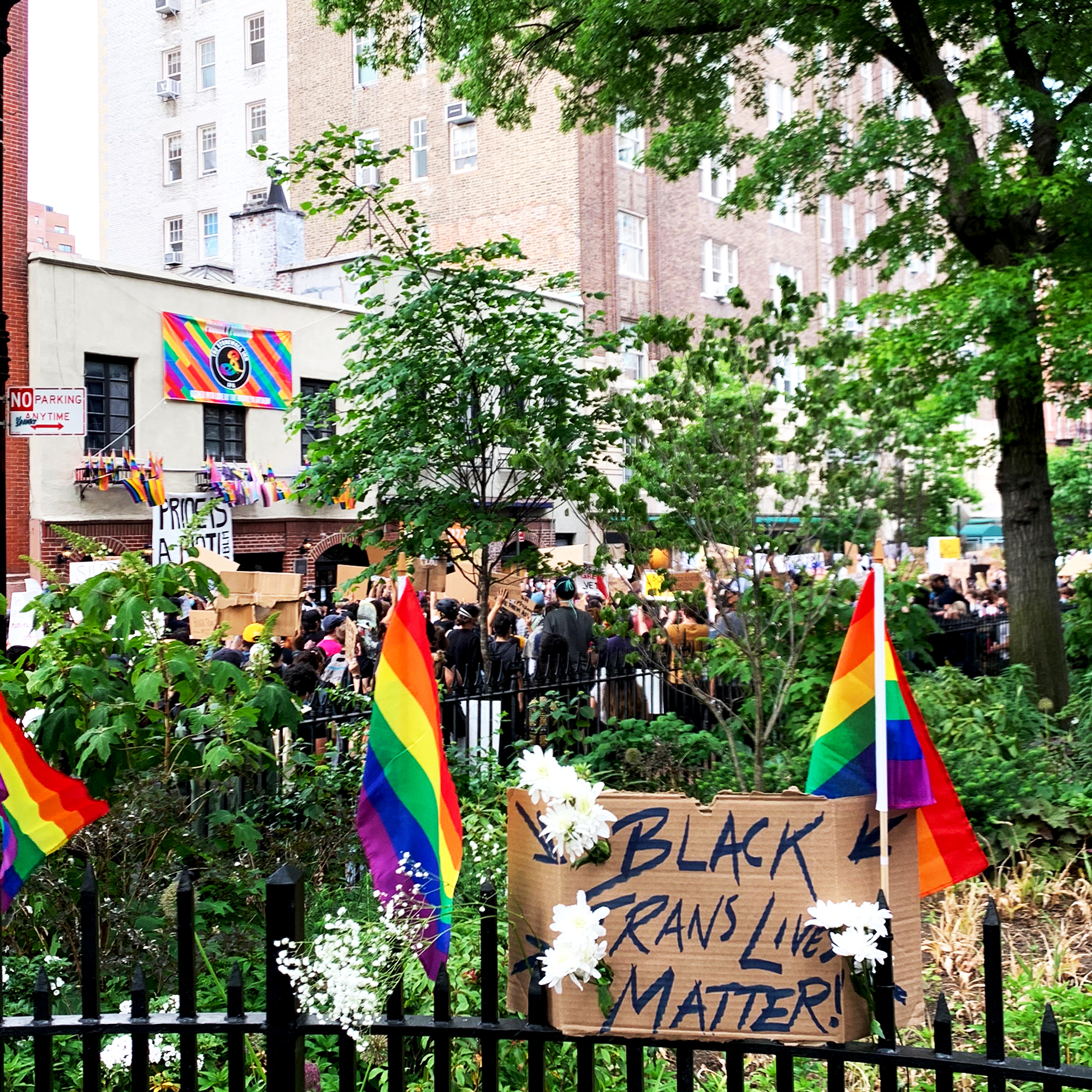 Black Trans Lives Matter protest - Christopher Street NYC, June 2 2020 / photograph by us