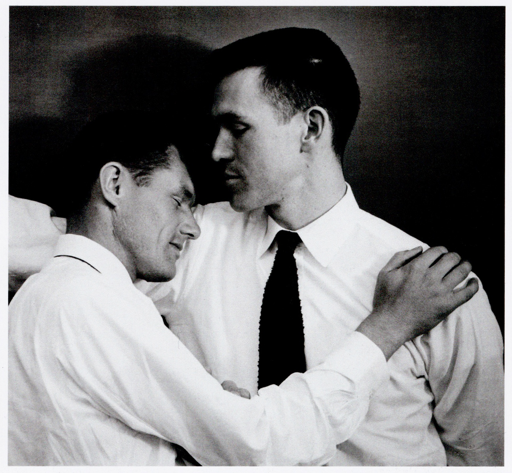 1949, Ernest Stone and Robert Bright - photograph by Minor White
